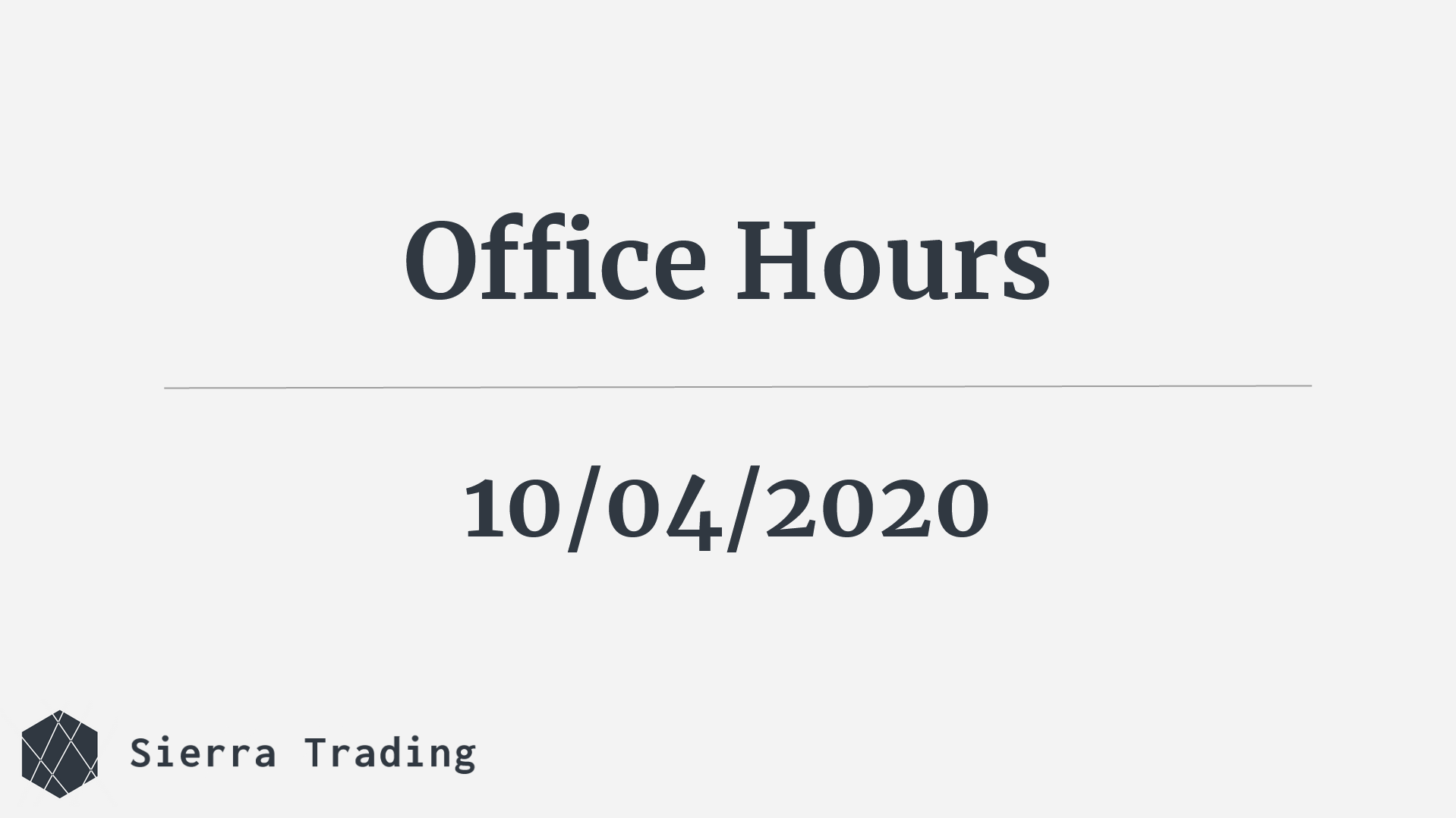 Office Hours 10/04/20